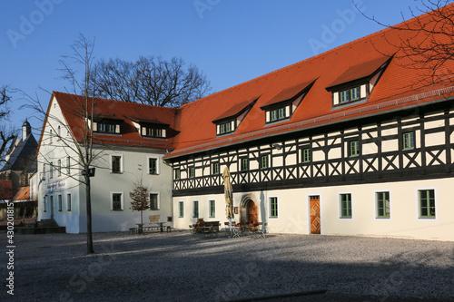 Canvas Print Historischer Gasthof Alma Caspar in Burkhardswalde bei Meißen