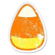 Candy Corn Grunge Sticker