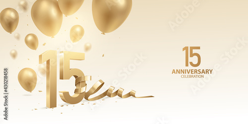 Fotografering 15th Anniversary celebration background