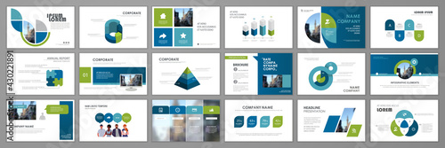 Fotografia Business presentation infographic template set