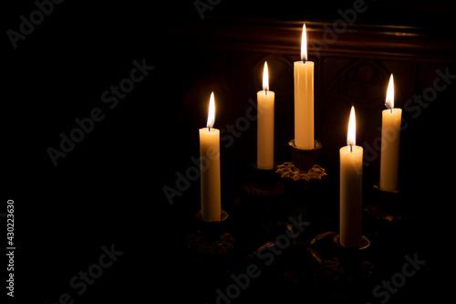 Leinwand Poster Zauberhaftes Kerzenlicht
