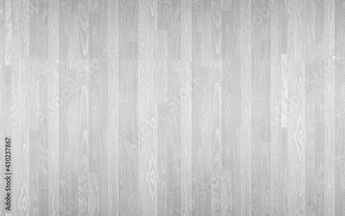 Obraz White Painted Wood Flooring Plank Board Surface Texture Background - fototapety do salonu