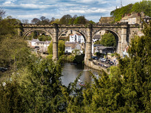 Knaresborough Viaduct Overlooking The River Nidd North Yorkshire