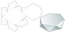Polygonal Tin Box Die Cut Template