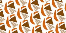 オレンジの三角の形のベクターのイラスト