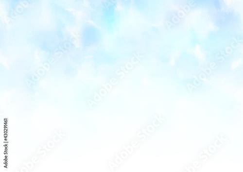 Fototapeta 水彩画 水色 背景 フレーム obraz