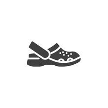 Sandals Shoe Vector Icon