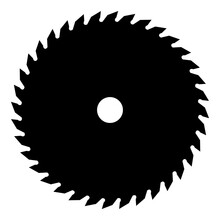 Circular Saw Blade Isolated On White Background