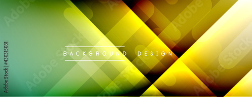 Dynamic lines abstract background. 3D shadow effects and fluid gradients. Modern overlapping forms - fototapety na wymiar