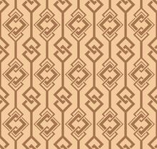 Japanese Diamond Chain Vector Seamless Pattern