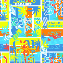 California Abstract Geometric Pattern .Fashion Print For T-shirts, Print, Poster, Banner, Postcard. Creative And Modern  Design . Repeated Backdrop