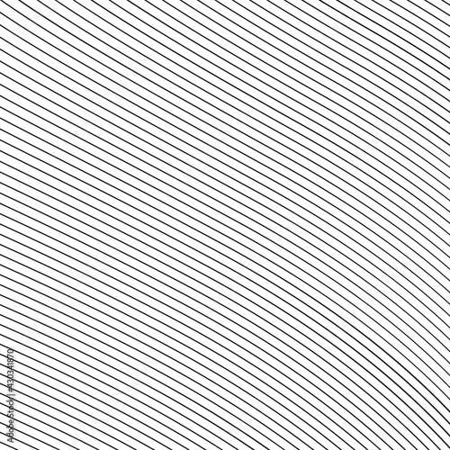 Papel de parede Abstract black vector wavy diagonal lines for prints, web and posters