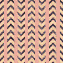 Vector Yellow Chevrons Pink Striped Repeat Pattern