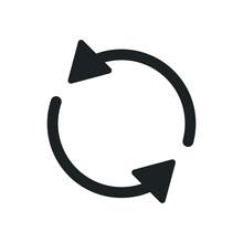 Refresh, Rotation Arrow Flat Icon Illustration,Update Symbol