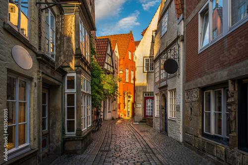 Buildings in the historic Schnoor district in Bremen, Germany - fototapety na wymiar