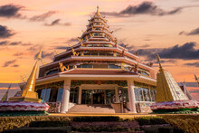 Huai Pla Kung Temple Is A Temple With Thai-Chinese Buildings, Thailand.