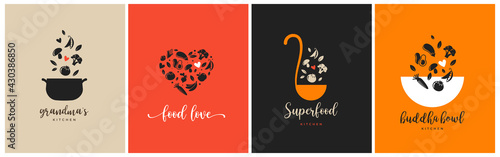 Fotografie, Obraz Bakery, pastry shop, food and cooking logo and branding