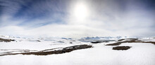Panarama Of The Pristine Mountains And Fjords Of Camp Mansfield, Svalbard