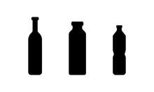 Wine Bottle Icon Isolated On White Background. Vector Illustration.