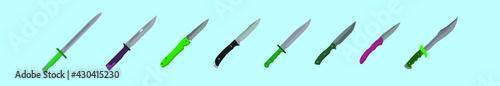 Fotografija set of bayonet cartoon design template with various models