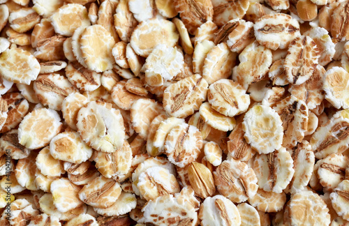 Canvas Print Close up picture of barley flakes.