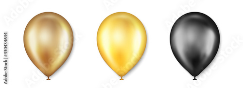 Slika na platnu Birthday balloons vector set