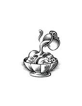 Hot Fudge Sundae Illustration