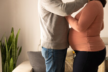Couple Expecting A Baby In An Affectionate Attitude