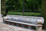 Fototapeta Kamienie - ławka park kamień rzeźbiona aranjuez hiszpania