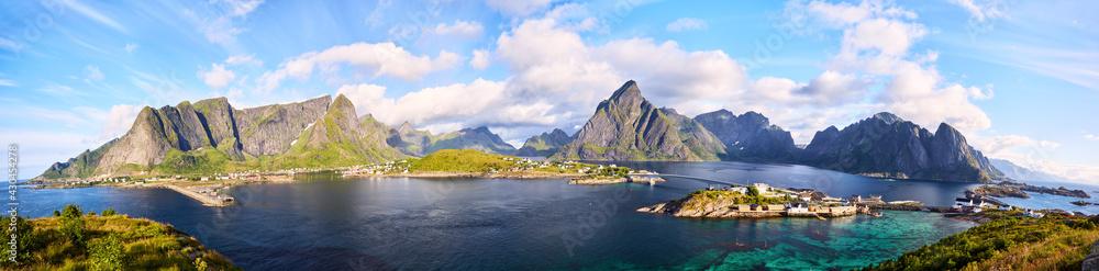 Fishing village of Reine, panorama, Lofoten, Norway