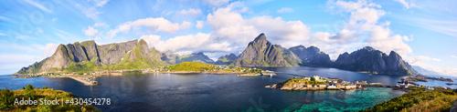 Fotografie, Obraz Fishing village of Reine, panorama, Lofoten, Norway