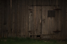 Old Abandoned Building Barn Wall Door At The Dalles Mountain Ranch Homestead Columbia River Gorge Washington State