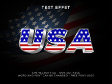 America Text Effect Editable Font. USA Text 3d Silver Style. Free Font Used.