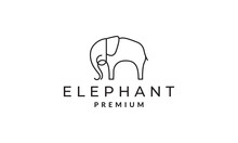 Minimalist Lines Art Animal Elephant Logo Vector Symbol Icon Design Graphic Illustration