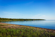 Providence Bay Beach, Summer Scenery Of Manitoulin Island On Huron Lake, Canada