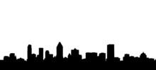 Montreal City Skyline Silhouette Illustration