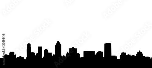 Fényképezés Montreal City Skyline Silhouette Illustration