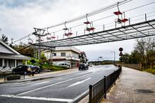鳥取砂丘周辺の情景と、蟹販売店の様子