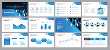 Business Presentation Template Design Backgrounds And Page Layout Design For Brochure, Book, Magazine, Annual Report And Company Profile, With Info Graphic Elements Graph Design Concept