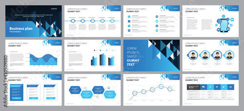 Vászonkép business presentation template design backgrounds and page layout design for bro