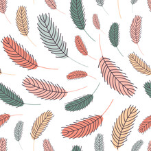 Bird Feathers Seamless Pattern. Easter Pattern