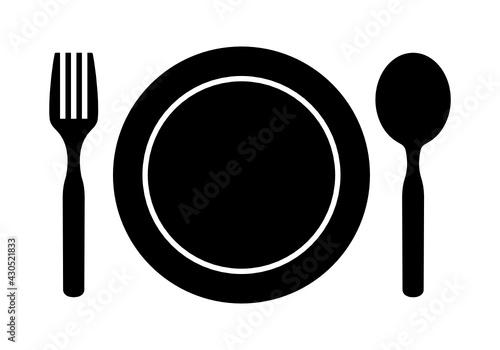 Obraz zestaw obiadowy ikona - fototapety do salonu