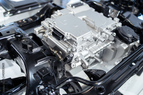 Obraz na plátně The motor in an electric car