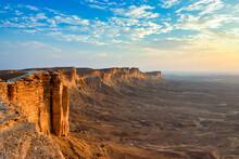 Edge Of The World, A Natural Landmark And Popular Tourist Destination Near Riyadh -Saudi Arabia.