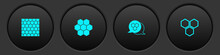 Set Honeycomb, , And Icon. Vector