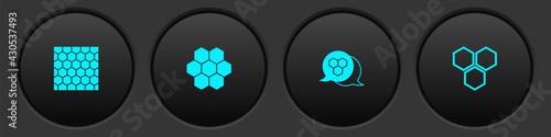 Set Honeycomb, , and icon. Vector - fototapety na wymiar