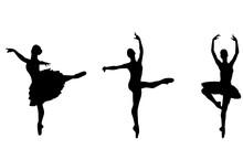 Ballet Dancers Silhouettes - Vector