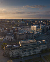 St George's Hall Liverpool, City Scape With Liverpool Metropolitan Cathedral