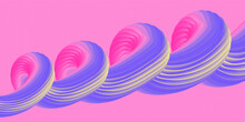 Abstract Background With Gradient Spiral. Banner In Gentle Colors