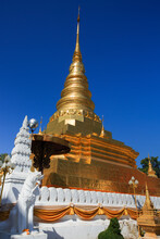Wat Phra That Chae Haeng Temple In Nan Province, Northern Of Thailand